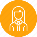 avatar, businesswoman, employee, office, woman, worker icon
