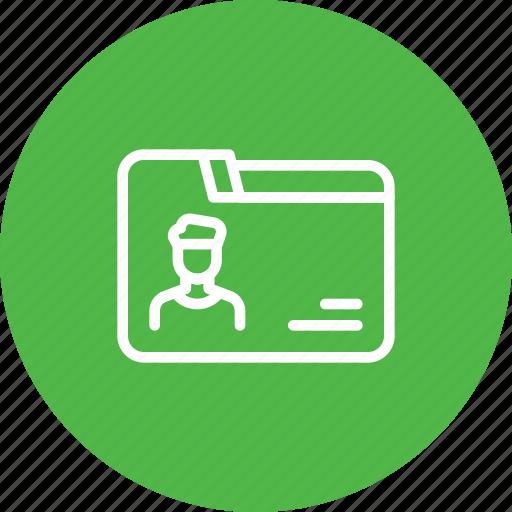 collection, data, detail, employee, folder icon