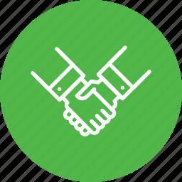 contract, deal, handshake, partnership icon