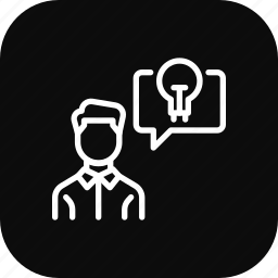 communication, creative, employee, idea, thinking icon