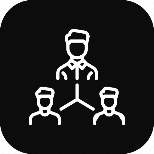 community, connection, employee, office, structure, team, workflow icon