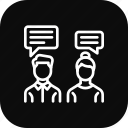 chatting, communication, discussion, employee, office, talk icon