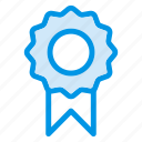 award, badge, certified, organic icon