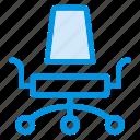 business, deckchair, director, furniture icon
