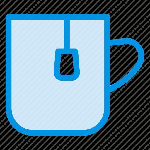 cup, hot, tea, teabag icon