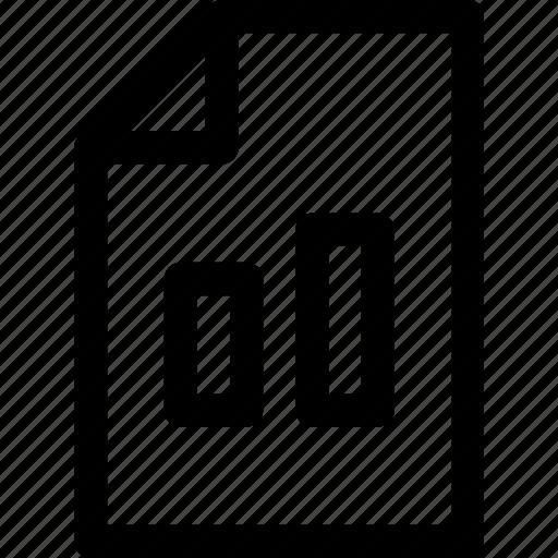 document, graph, page, paper, presentation, statistics icon