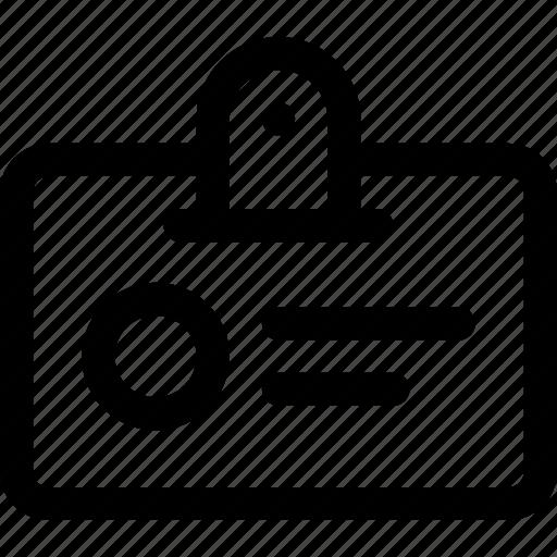badge, card, identity, image, person, user icon