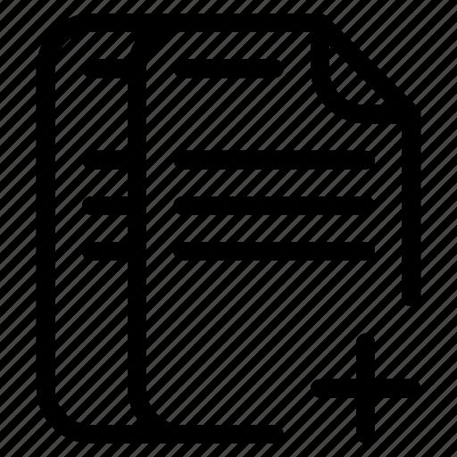 Add, creature, document, template icon | Icon search engine