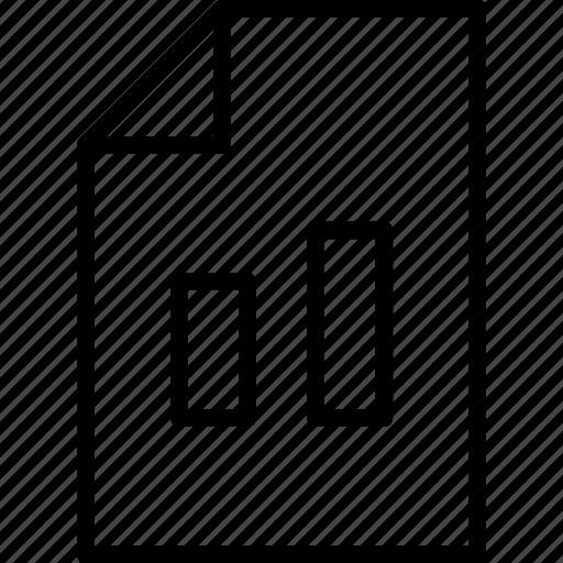 document, graph, page, presentation, statistics icon