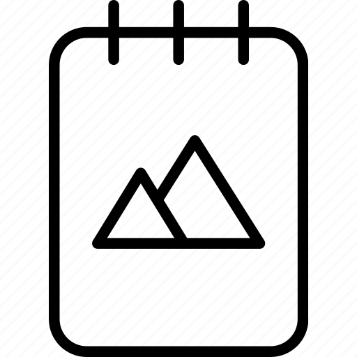 brand, business, design, document, identity, notebook icon