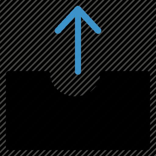 arrow, box, parcel, tool icon