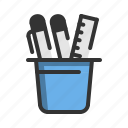 business, office, pen, pencil, stationery icon