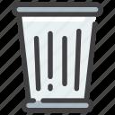 bin, can, delete, garbage, trash