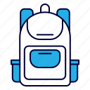bag, business, equipment, learning, office, school icon