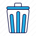 equipment, office, paper, trash icon
