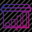 equipment, grafic, office, presentation icon