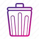 equipment, office, trash icon