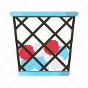 business, trash bin icon
