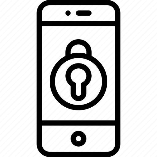 equipment, it, locked, mobile, office, phone, smart icon