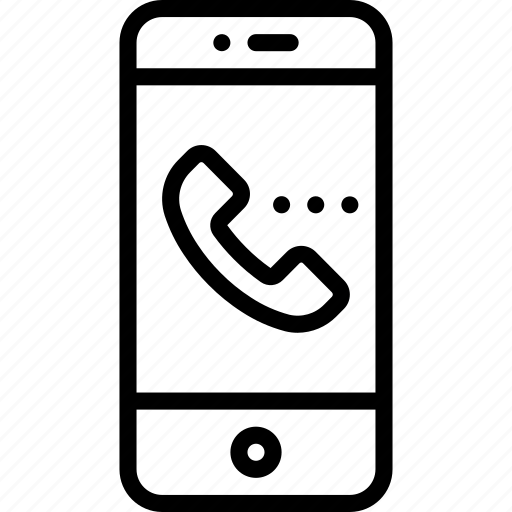 call, incoming, mobile, office, outline, phone, smart icon