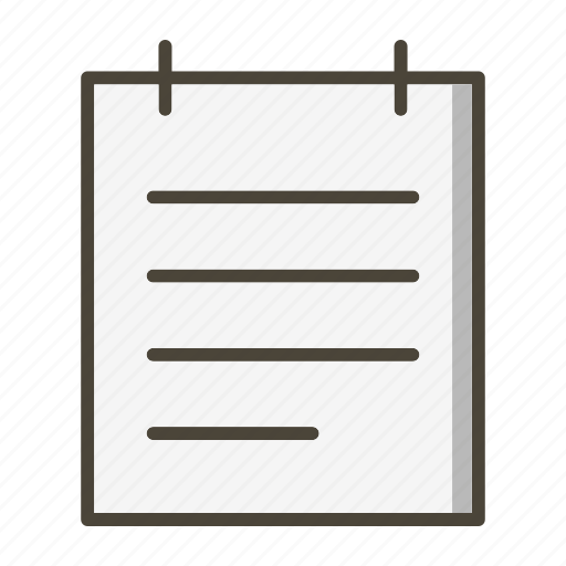 notepad, notes, page icon