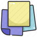 business, documents, education, files, notes, paper, post it icon