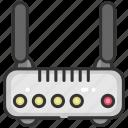 electronics, internet, modem, router, technology, wifi, wireless icon