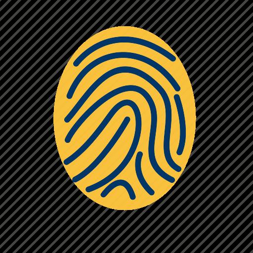 biometric, finger, print icon