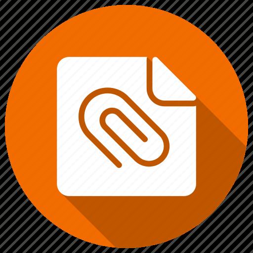attach, clip, file, paperclip icon