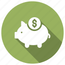 bank, banking, money, piggy icon