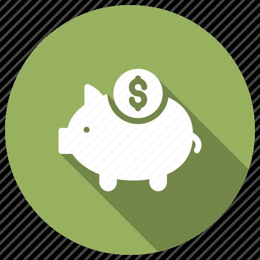 bank, banking, money, piggy icon