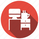 computer, computerdesk, computertable, furniture icon