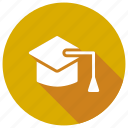 cap, degree, education, graduation icon