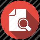 empty, file, find, search icon