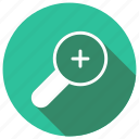 enlarge, in, magnify, zoom icon