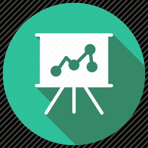 analytics, file, graph, presentation icon