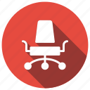 business, deckchair, director, furniture icon