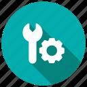 engineering, gear, process, setting icon