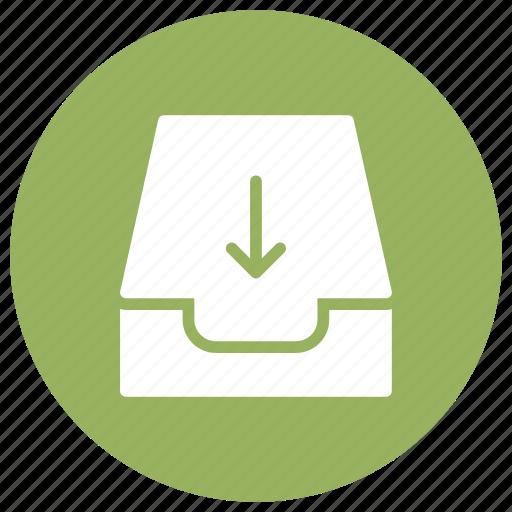 arrow, disk, download, files icon