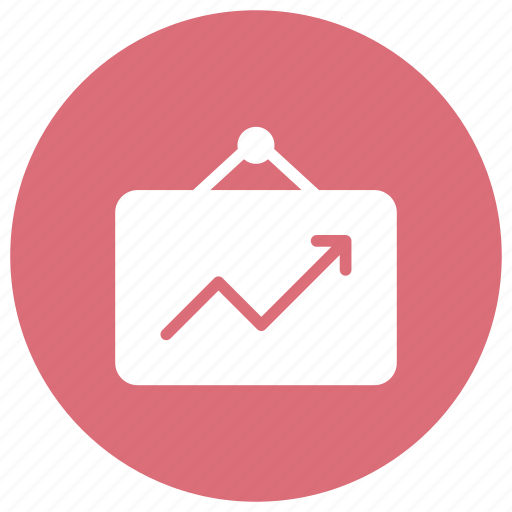 analytics, business, file, graph icon