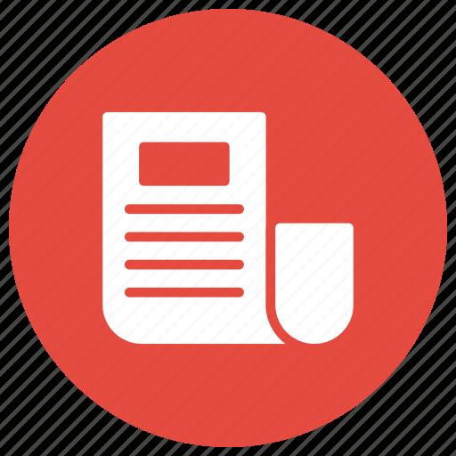 blog, newspaper, paper, survey icon