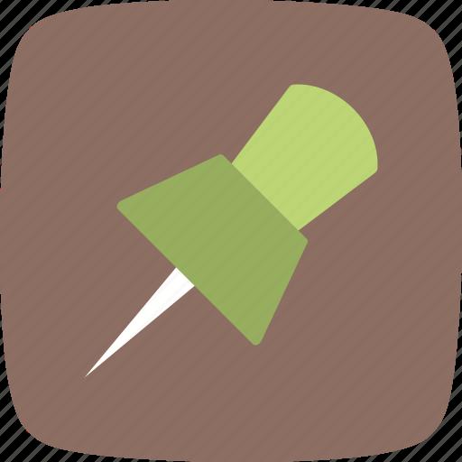 location, pin, push pin icon