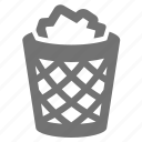 basket, bin, can, litter, office, papper, trash icon