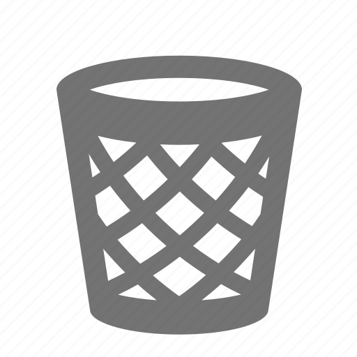 basket, bin, can, garbage, litter, recycle, trash icon