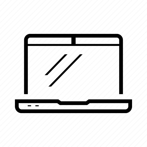 laptop, notebook icon