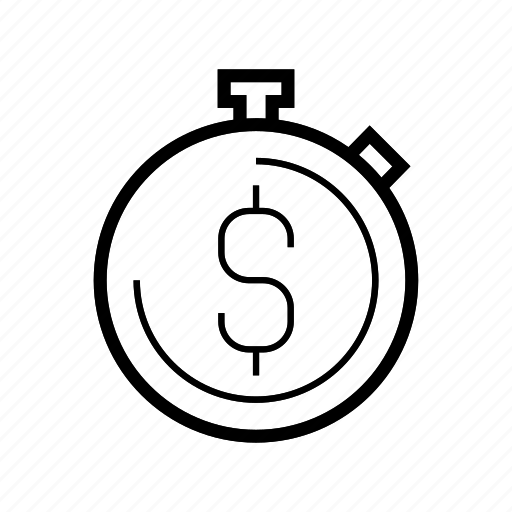 management, money, stopwatch, time, timer icon