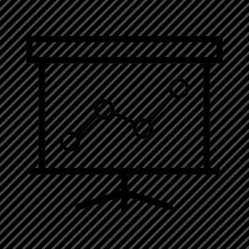 board, chart, diagram, graph, presentation icon