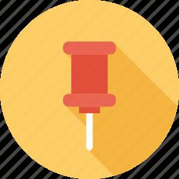map, marker, office, pin, push, pushpin, thumbtack icon