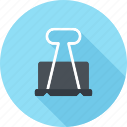 binder, clip, equipment, file, holder, office, paperclip icon