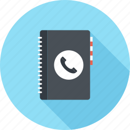 address, book, contact, contacts, list, notebook, phone icon